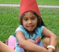 camper in a red fairy hat1